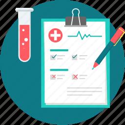 cardiogram, diagnosis, ecg, healthcare, medical, report, test icon