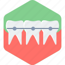 braces, care, dentistry, stomatology, teeth icon