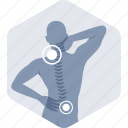 backache, cervical, neck pain, orthopedics, pain icon