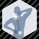 cervical, backache, neck pain, orthopedics, pain icon