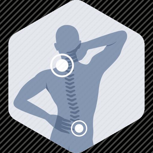 backache, cervical, neck pain, orthopedics, pain icon