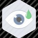 eye, treatment, eye drops, test icon