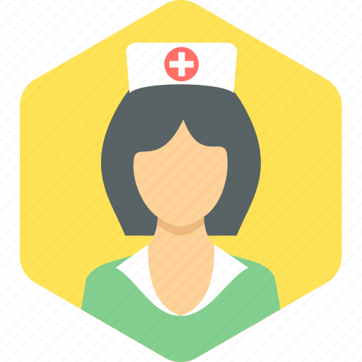 female, lady, nurse, sister icon
