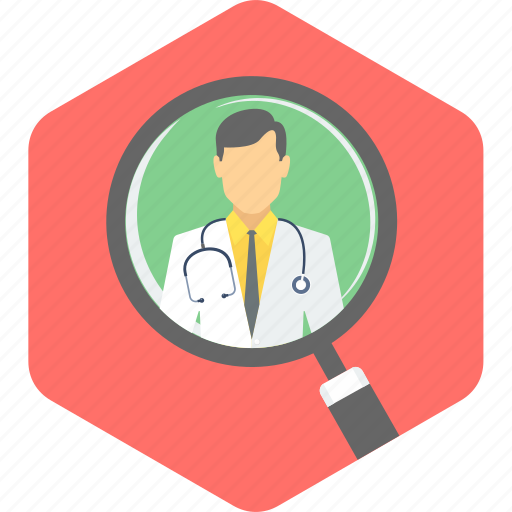 doctor, search icon