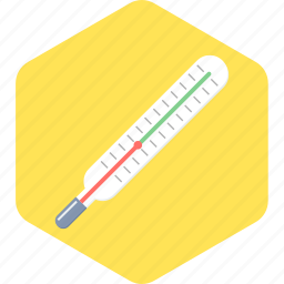 fever, fever test, mercury thermometer, temperature, thermometer icon