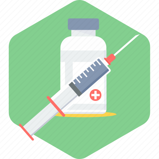 injecting, injection, medical, syringe, vaccination, vaccine icon