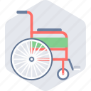 chair, emergency, hospital, wheelchair icon