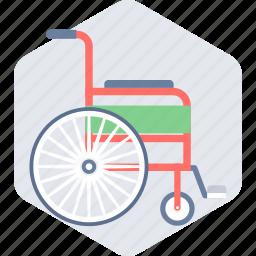 chair, emergency, hospital, wheelchair icon