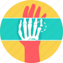 bone, fingers, radiology, skeleton, x-ray, xray icon
