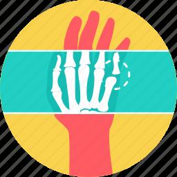 bone, fingers, radiology, skeleton, x-ray, xray icon