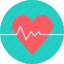 ecg, heart, heart attack, heart rate, line, pulse, report icon