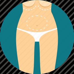 abdomen, anatomy, biology, breast, stomach, surgery icon