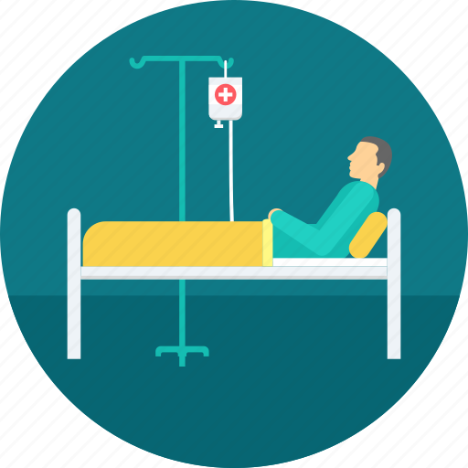 emergency, healthcare, hospital, patient, recovery, treatment icon