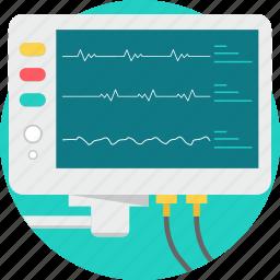 checkup, ecg, emergency, medical, monitoring icon