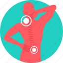 back bone, backbone, backpain, cervical, neck pain, nervous system, pain icon