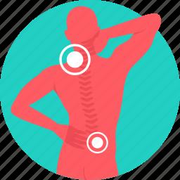 back bone, backbone, backpain, cervical, neck pain, nervous system, pain icon