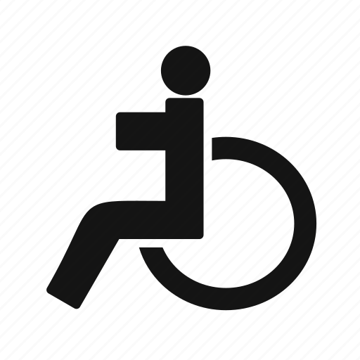 handicap, handicapped, patient, wheel chair icon
