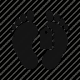 deadbody, label, sign, tag, toe icon