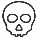 alert, anatomy, danger, skeleton, skull icon