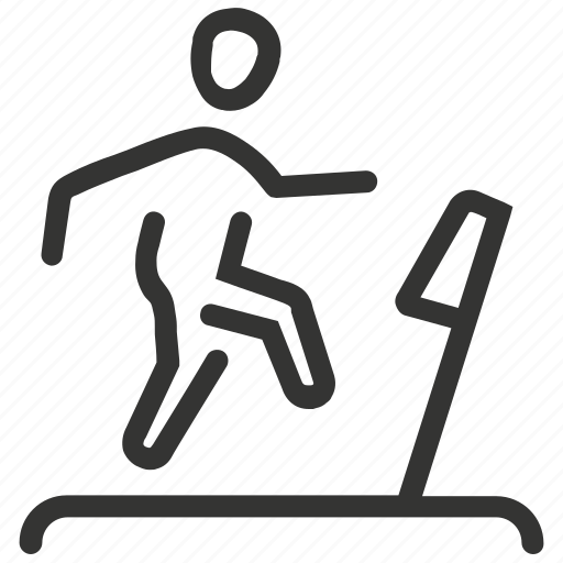 exercise, fitness, running, running machine, treadmill icon