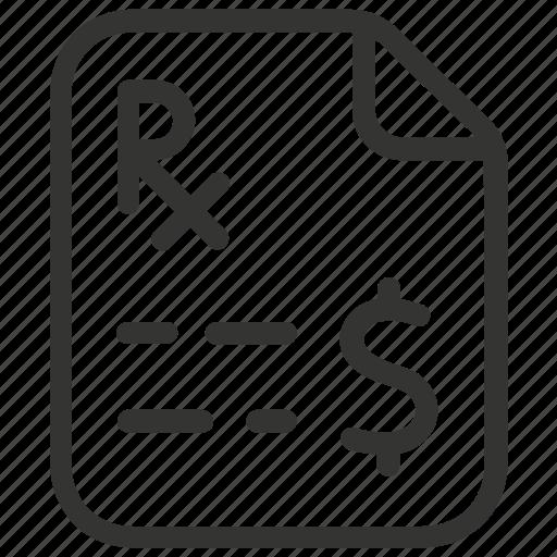 bill, health insurance, healthcare, medical bill, medical receipt icon