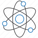 atom, education, knowledge, science icon