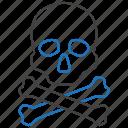 crossbones, death, horror, skull