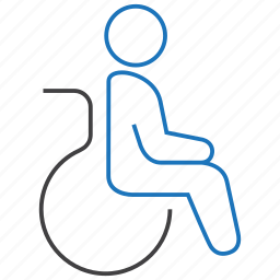 disability, patient, wheelchair icon