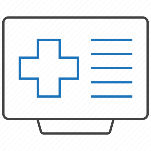health, hospital, medical, online icon