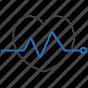 ecg, ekg, electrocardiography icon