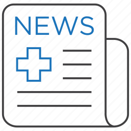 healthcare, hospital, media, medical, news icon