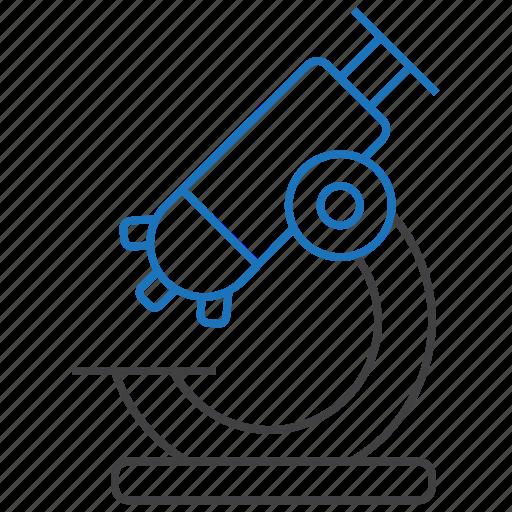 chemistry, equipment, microscope, science icon