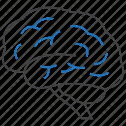 brain, neurosurgery, thinking icon
