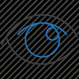 eye, eyesight, ophthalmology, sight icon