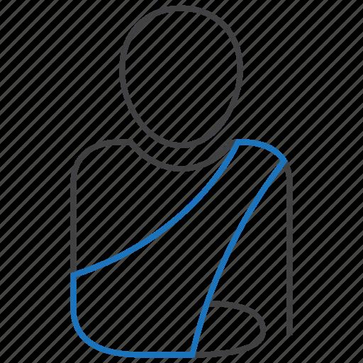 arm, orthopedics, patient, plaster icon