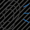 listen, listening, otology icon