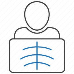 radiology, radioscopy, rib icon