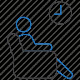 furniture, interior, room, waiting icon