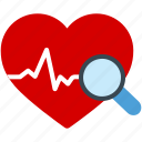 beat, ecg, find, heart, heartbeat, medical, pulse icon