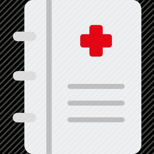 book, diagnosis, healthcare, medical, paper, prescription, report icon