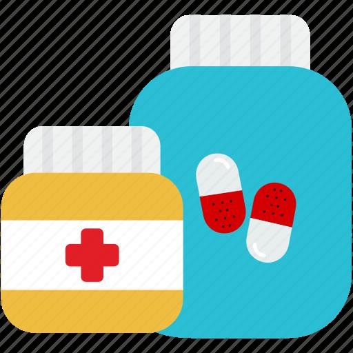 bottle, drugs, healthcare, medical, medicine, pharmacy, pills icon