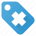 healt, medical, price, tag icon