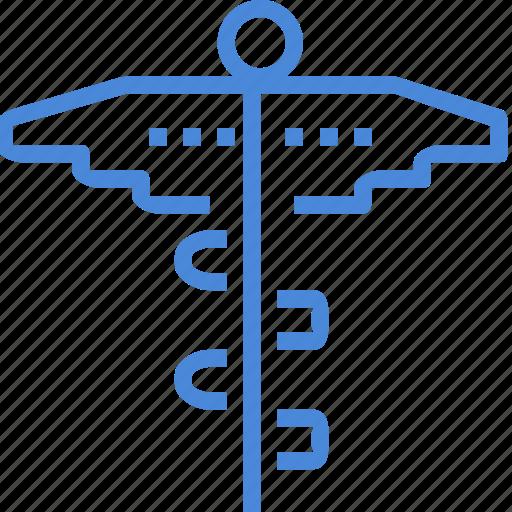 caduceus, care, clinic, hospital, medical, treatment icon