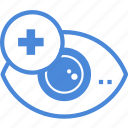 care, clinic, eye, medical, optometrist, test, treatment icon