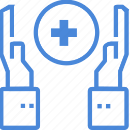 care, clinic, hand, hospital, medical, protection, treatment icon