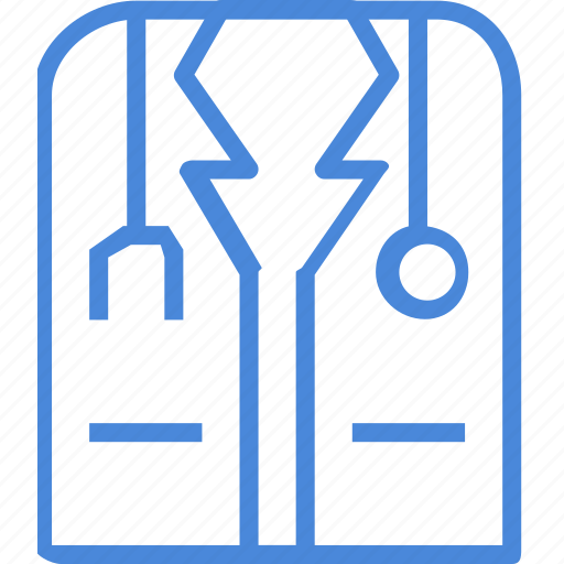 clinic, clothes, medical, treatment, uniform, white, work icon
