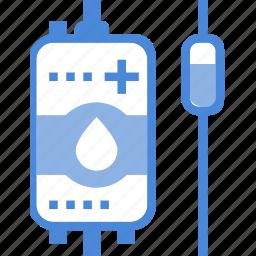 bag, blood, care, hospital, medical, transfusion, treatment icon