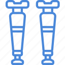 care, crutches, equipment, hospital, medical, treatment icon