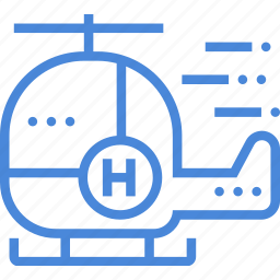 care, emergency, helicopter, hospital, medical, treatment icon