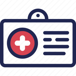 card, care, clinic, hospital, medical, member icon